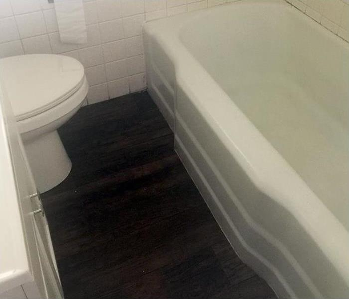 Bathroom restored after a fire